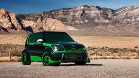 kia soul, kia soul, kia, green - wallpapers, picture