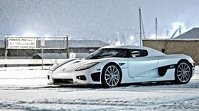 koenigsegg ccx, car, snow, winter - wallpapers, picture