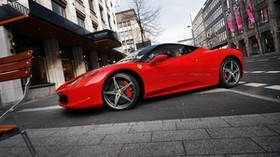 red, parking, ferrari 458 italia, ferrari, street - wallpapers, picture