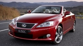 red, lexus is 250c, front view, convertible - wallpapers, picture