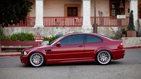 red, e46, profile, m3, bmw, bmw - wallpapers, picture