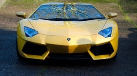 lamborghini, aventador, lp700-4, yellow, car, front view - wallpapers, picture