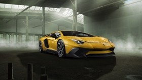 lamborghini, aventador, yellow, side view - wallpapers, picture