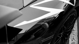 lamborghini, bw, black, car - wallpapers, picture