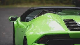 lamborghini gallardo, lamborghini, green, rear view - wallpapers, picture