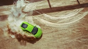 lamborghini, huracan, lp640-4, green, drift - wallpapers, picture