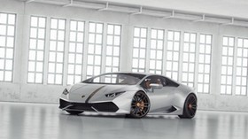 lamborghini, huracan, lp 610, side view, white - wallpapers, picture