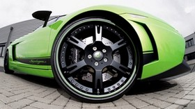 lamborghini, wheel, green - wallpapers, picture