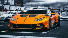 lamborghini, car, sports car, orange, racing - wallpapers, picture