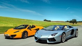 lamborghini, mclaren, mp4-12c spider, jootix - wallpapers, picture