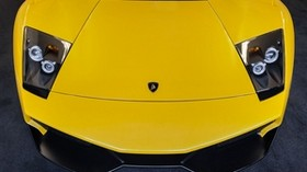 lamborghini, murcielago, hood, yellow - wallpapers, picture