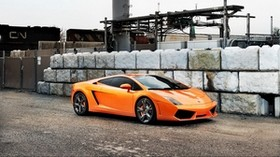 lamborghini, orange, car, style - wallpapers, picture
