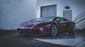 lamborghini, sports car, purple - wallpapers, picture