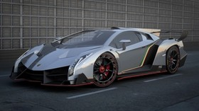lamborghini veneno, side view, car, car - wallpapers, picture