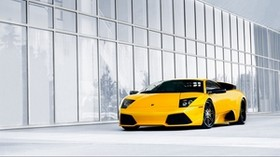lamborghini, car, yellow, murselago, lamborghini - wallpapers, picture