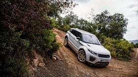 land rover, range rover, evoque, silver, descent - wallpapers, picture