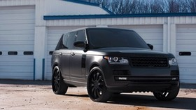 land rover, range rover, land rover, black matte - wallpapers, picture