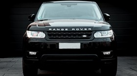 land rover, range rover, car, black, SUV, front view - wallpapers, picture