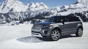 land rover, range rover, snow, side view - wallpapers, picture