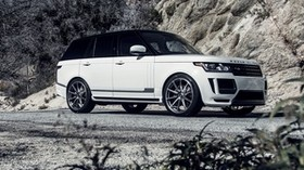 land rover, range rover, vogue, white, side view - wallpapers, picture
