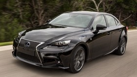 lexus, is 300h, f-sport, black, side view - wallpapers, picture