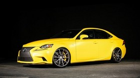 lexus, is, vossen, yellow, side view - wallpapers, picture