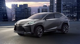 lexus, lf-nx 6, gray, side view - wallpapers, picture