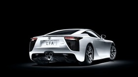 lexus, lfa, white, side view - wallpapers, picture