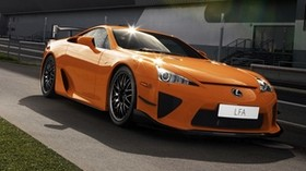 lexus, lfa, orange, side view - wallpapers, picture