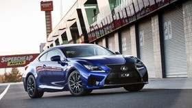 lexus, rc f, au-spec, blue, side view - wallpapers, picture