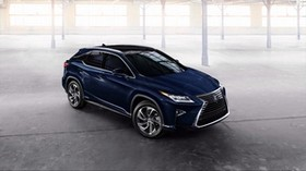 lexus, rx 450h, blue, side view - wallpapers, picture
