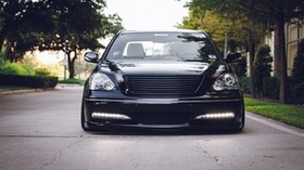 lexus, vip, black, front bumper - wallpapers, picture