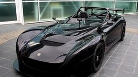 lotus, black, car, front view, convertible, sports car - wallpapers, picture