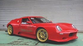lotus europa, car, red, side view, tuning - wallpapers, picture
