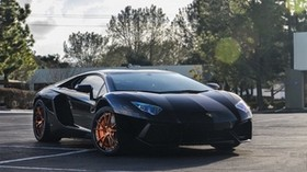 lp700-4, aventador, lamborghini, black - wallpapers, picture