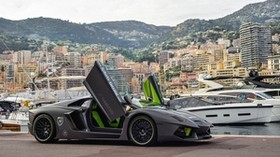 lp700-4, lamborghini, aventador, gray, yachts, pier - wallpapers, picture