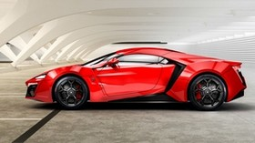 lykan, hypersport, w motors, red, side view - wallpapers, picture