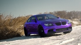 m3, bmw, tuning, purple, chrome - wallpapers, picture