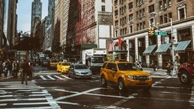 manhattan, new york, street, car - wallpapers, picture