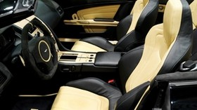 mansory, aston martin, db9, 2008, interior, salon, steering wheel - wallpapers, picture