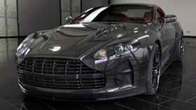 mansory, aston martin, dbs, 2009, black, front view, style, aston martin, reflection - wallpapers, picture