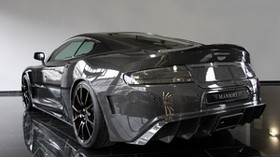 mansory, aston martin, dbs, 2009, carbon, black, rear view, style, reflection - wallpapers, picture