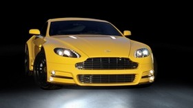 mansory, aston martin, v8, vantage, yellow, front view, style, aston martin, sport - wallpapers, picture