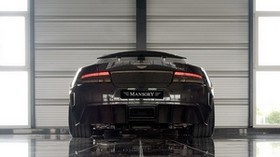 mansory cyrus, 2009, black, rear view, style, sport, aston martin, auto, reflection - wallpapers, picture