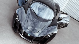 marussia, b2, black, car, front view, doors - wallpapers, picture