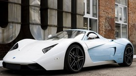 marussia, blue, b1, white, auto, side view - wallpapers, picture