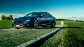 maserati, ghibli, novitec tridente, blue, side view - wallpapers, picture