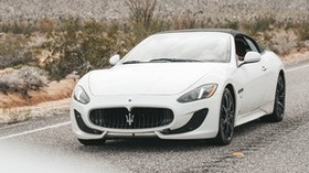 maserati grancabrio, maserati, car, sports car, convertible, white - wallpapers, picture