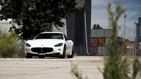 maserati, granturismo, white, front view - wallpapers, picture