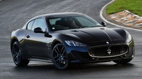 maserati, granturismo, mc sportline, side view, black - wallpapers, picture
